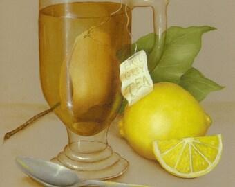 Painted Lemon Tea Cabinet