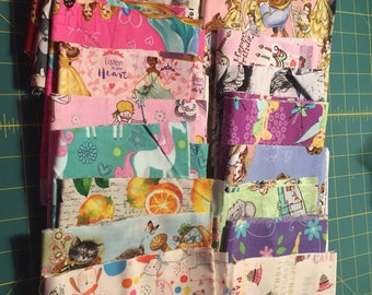 20 Fabric Remnants Destash  Cotton Licensed and Non Licensed Fabric  Children  Lot 2