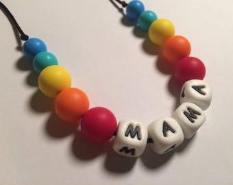 Sale***Silicone MAMA #GoodTeethes nursing teething necklace Free uk postage
