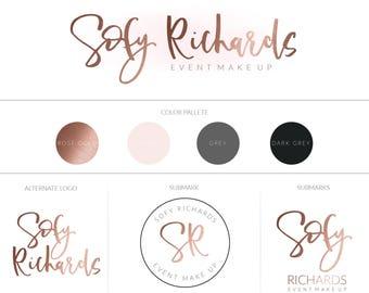 Branding Board | Branding Kit | Premade branding Kit | Mood Board | Branding | Brand | Business identity | Rose gold | Watermaks