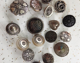 Collection of Silver Tone Buttons