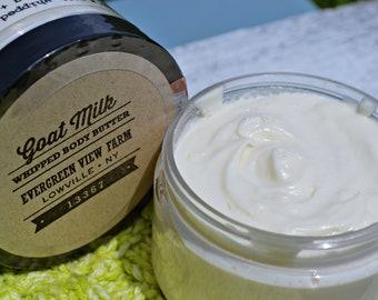 Goat's Milk Whipped Body Butter - Coconut Oil - Shea Butter - Mango Butter - Farmstead - Artisan - Handcrafted - Natural