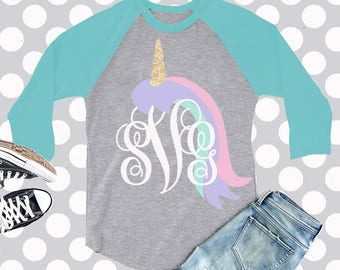 unicorn svg, unicorn monogram svg, unicorn birthday, SVG, DXF, eps, png, unicorn, cut file, girls svg monogram, birthday svg, commerical use