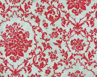 FAT QUARTER Ava Rose Damask by Tanya Whelan Red and White OOP Moda Fabric_FQ