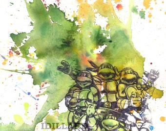 Teenage Mutant Ninja Turtles Poster Art Print Art Print Teenage Mutant Ninja Turtles Poster Print Nerd Art Poster Print Wall Decor