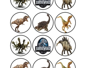 Edible Jurassic World Dinosaur Cupcake Cookie Toppers