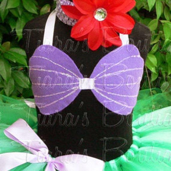 & Little Mermaid Sea Shell Top Girls Toddler Ariel Costume