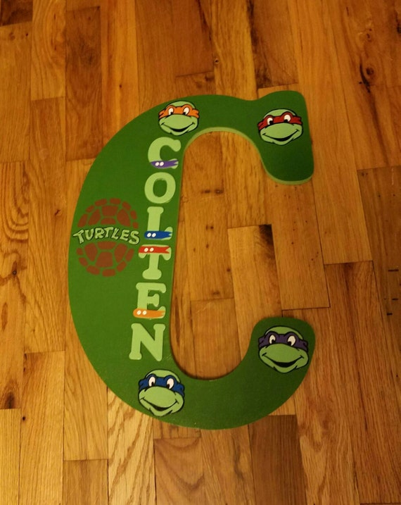 Teenage Mutant Ninja Turtles Theme 18 Inch Wooden Letter