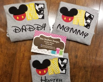 Mickey Mouse first birthday shirt