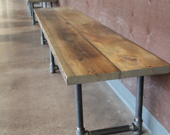 The Theater Bench Reclaimed Wood Bench Entry Bench Farmhouse Table Bench