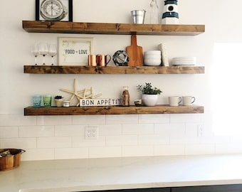 FREE SHIPPING! - Wood Floating Shelves, Primitive Shelf, Floating Shelf