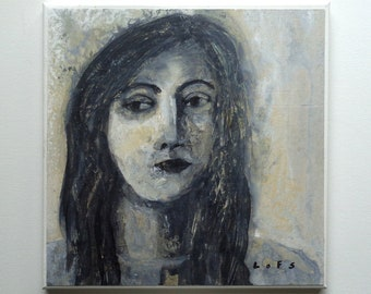 Original Painting - Portrait - 12 x 12 in. - Acrylic by Al Lofsness 2018