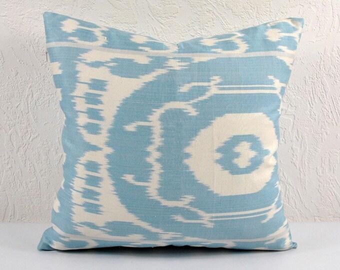 Ikat Pillow, Hand Woven Ikat Pillow Cover IP53 (A123), Ikat throw pillows, Designer pillows, Decorative pillows, Accent pillows