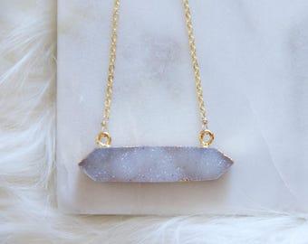Druzy Agate Point Necklace