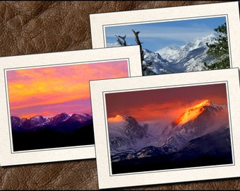 3 Nature Photo Note Cards Handmade Set - 5x7 Nature Note Card - Blank Note Cards With Envelopes - Photo Greeting Cards Handmade (NA8)
