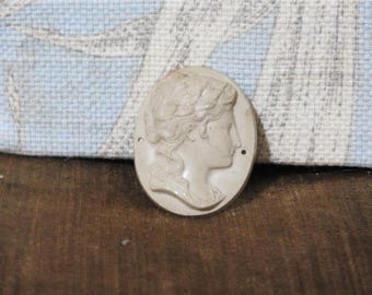 beautiful greek goddess hand carved lava cameo three for sale