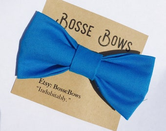 Blue bow tie, blue baby bow tie, royal blue bow tie, baby bow tie, boys blue bow tie, Newborn bow tie, cake smash boy, Mens Bow tie