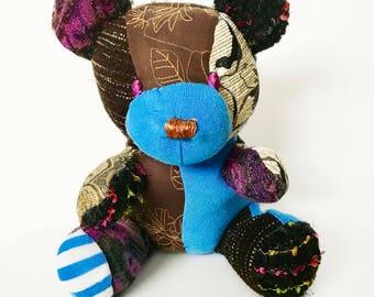 Memory Keepsake Bear, Memento Bear, Baby Sleeper Bear, Sleeper to Bear, Baby Keepsake Animal, Baby Hospital Blanket Animal, Clothing Bears