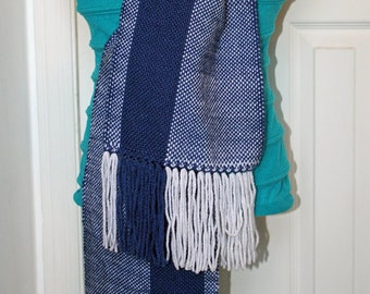 Racing Stripe Scarf - Handwoven Warm Scarf