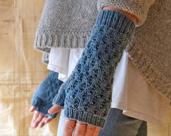 Indikon Fingerless Mitts Knitting Pattern PDF