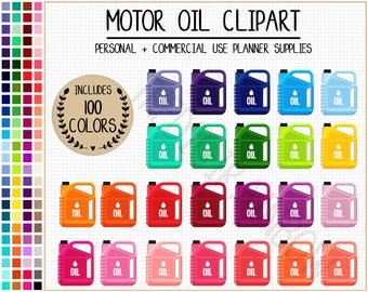 SALE 100 MOTOR OIL clipart travel planner stickers car stickers rainbow travel clipart vehicle clipart Erin Condren Happy Planner Filofax