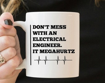 Electrical Engineer Mug, Gift for Electrical Engineer, Electric Engineer Mug, Electrical Engineering, Electronics Engineer, Electrician Mug