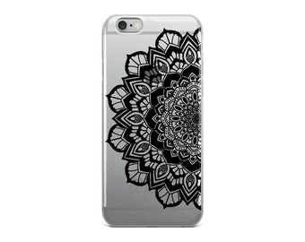 Black Flower Mandala iPhone Case