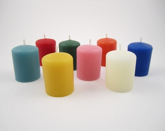 Set of 4 Beeswax Votive Candles