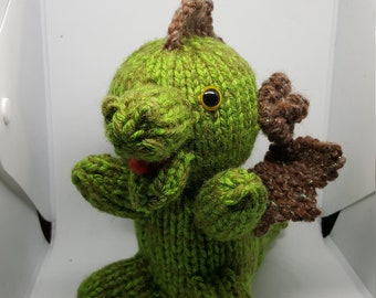Hand Knit Mossy Dragon