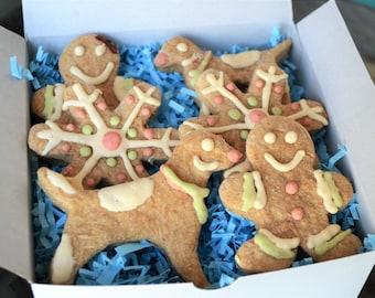 Dante's Gingerbread Cookie Box /Organic Dog Treats /Dog Treats /Dog Cookies /Dog Bakery /Holiday Treats/ Christmas Dog Gift /Dog Lover Gift