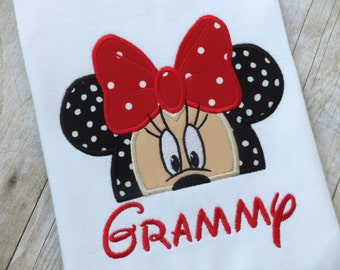 Minnie Mouse T-shirt Personalized for Grandmother / Grammy / Grandma / GiGi
