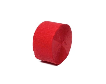 Flame Red Crepe Paper Streamer Roll - 150 Feet Long - Paper Craft Party Supplies