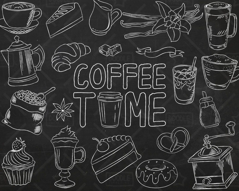 Coffee Chalkboard Chalk Art  |Coffee Chalk Art