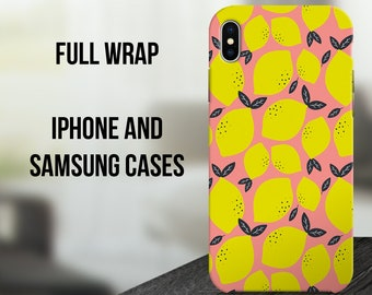 Lemons iPhone X Case, Fruit iPhone 10 Case, Botanical iPhone 8 Plus Case, Samsung Galaxy S8 Cover, Samsung Galaxy S7, iPhone 6 Case C22