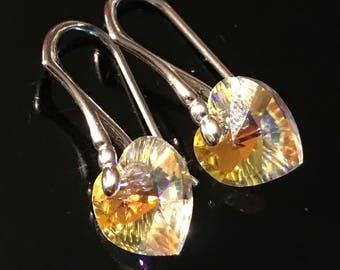 Swarovski element earrings - heart