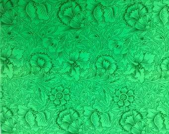 Kaffe Fassett Stencil Carnation malachite Westminster Rowan Fabrics Fat Quarter yard or more OOP Rare