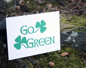 Go Green -- Card and Envelope Set