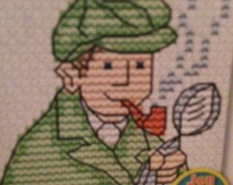 Sherlock Holmes Cross Stitch Pattern