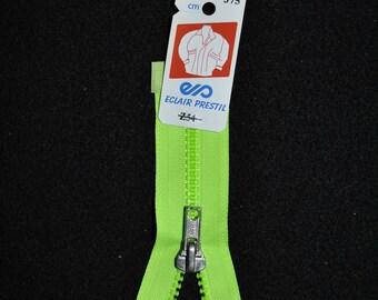 Neon Green Z54 375 mesh 55cm separable zipper plastic molded