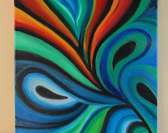 Colorful Swirls Oil Painting