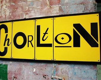 Typographic Art  Chorlton : Typographic Suburb Urban Art