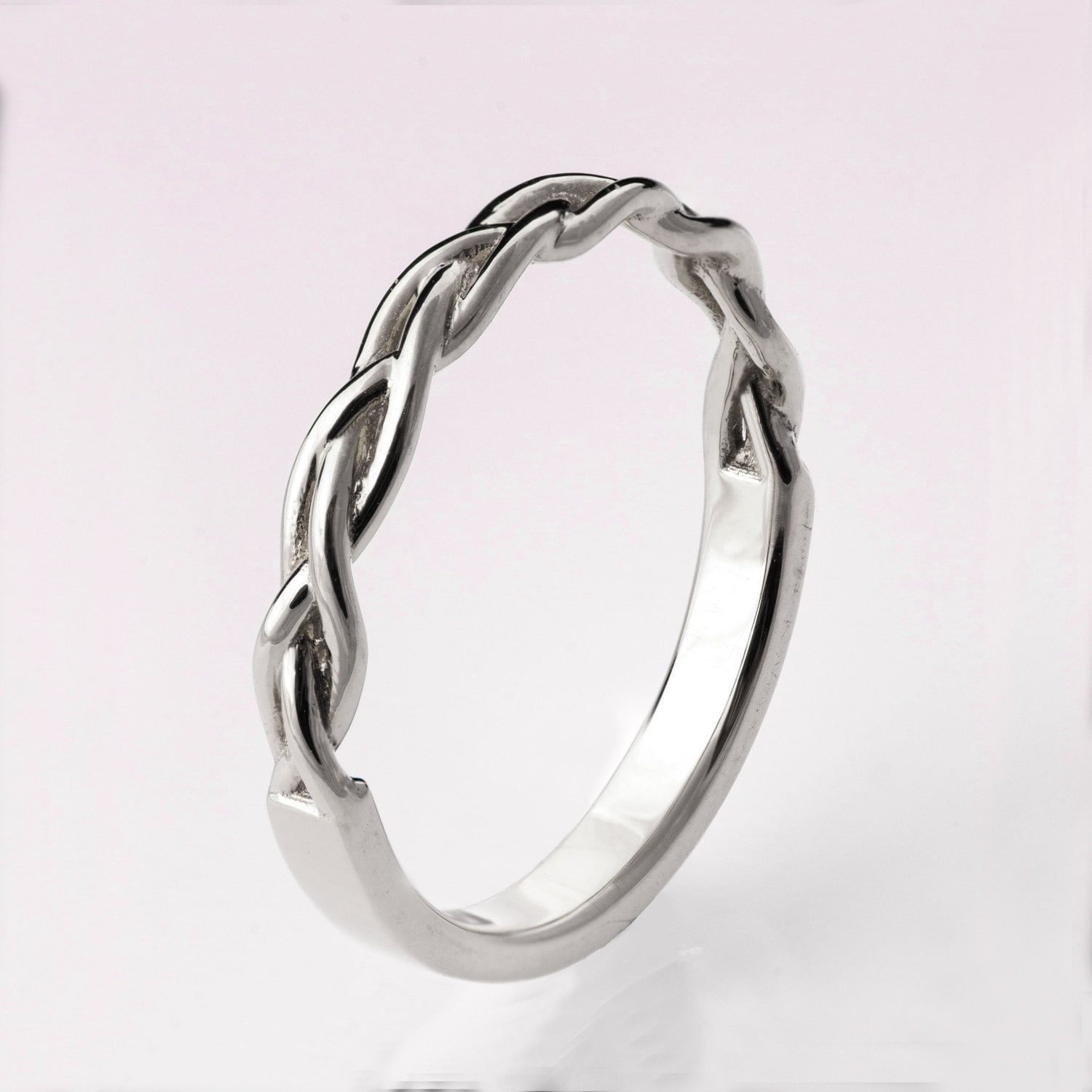 braided ring celtic platinum ring wedding band platinum