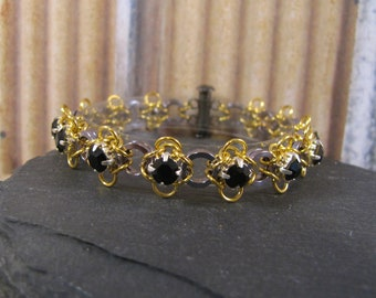 Sparkling Wings Rhinestone Bracelet Kit - Gunmetal, Gold & Jet Black
