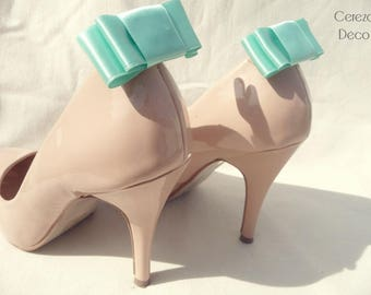 Shoe clips bows retro mint green Mint