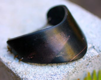 Black Minimalist Bracelet ~ Black Minimalist Cuff Bracelet ~ Modern Black Cuff Bracelet ~ Modern Black Bracelet ~ Black Gothic Bracelet