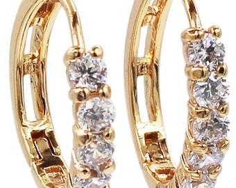 Noble  small crystal earrings