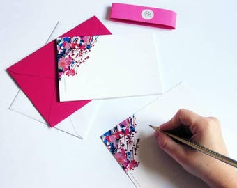 "10 Cards ""Cerisier"" to send // Greeting cards // Postcards // Stationery // Writing paper // Envelopes"