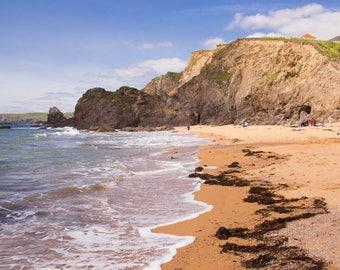 Hope Cove in Devon Print
