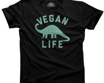 Brontosaurus Funny Vegan Shirt - Vegan Apparel Vegan Clothes Herbivore Shirt Vegan Pride Vegan Clothing (See SIZING CHART in Item Details)