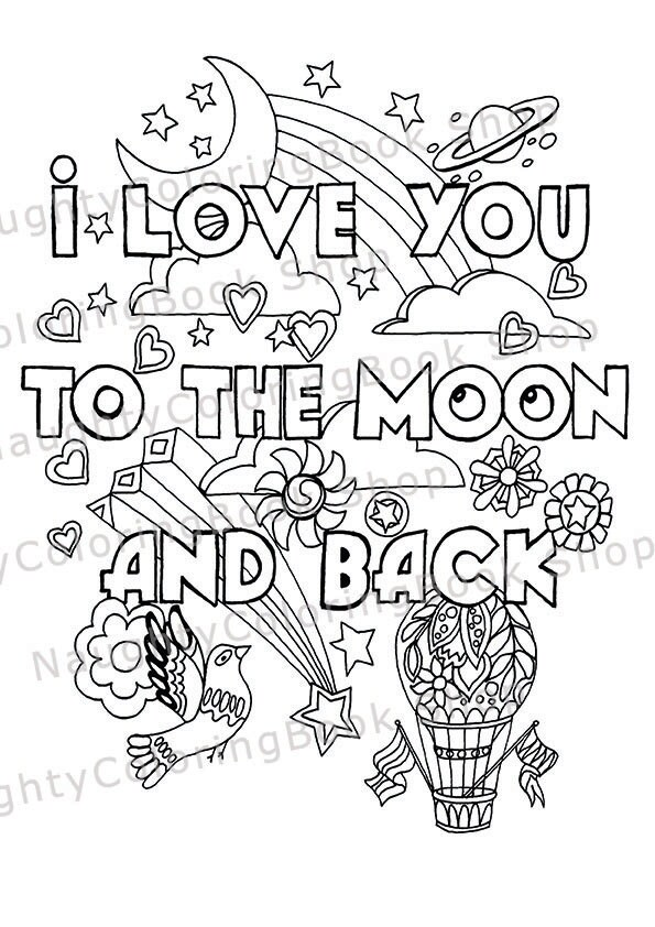 Funny valentine gift naughty valentine sexy valentine for Adult love coloring pages